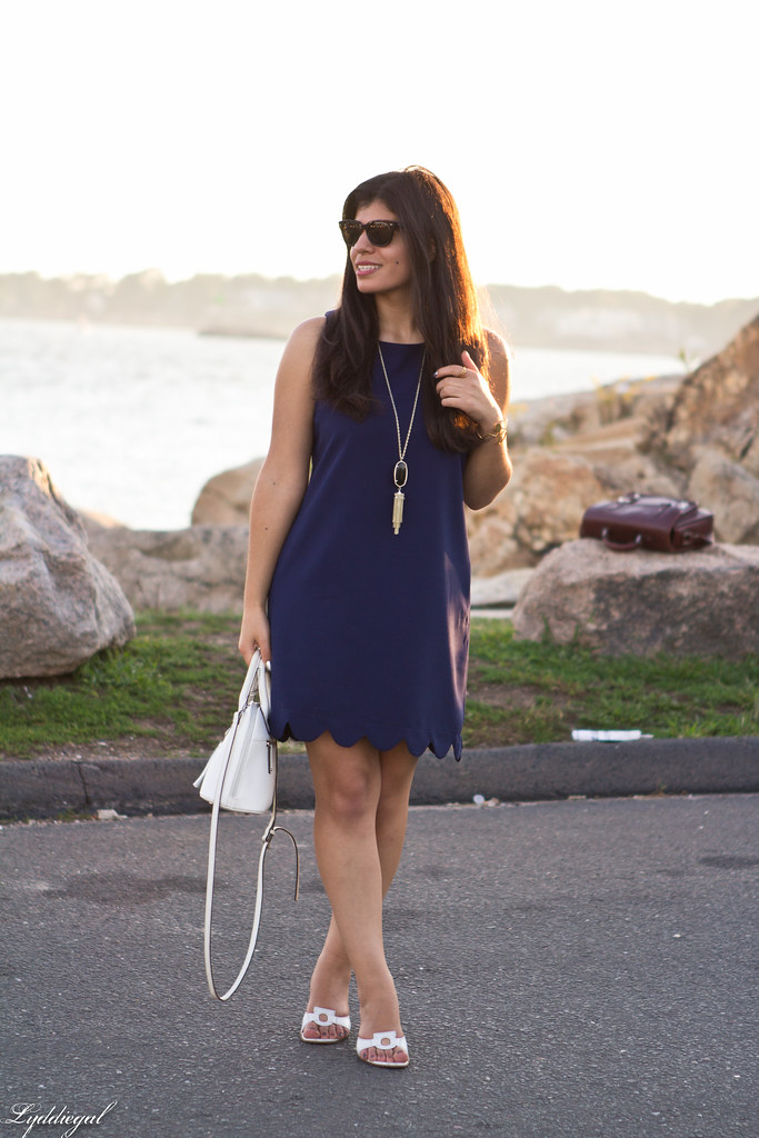 navy scalloped dress, white bag and sandals-4.jpg
