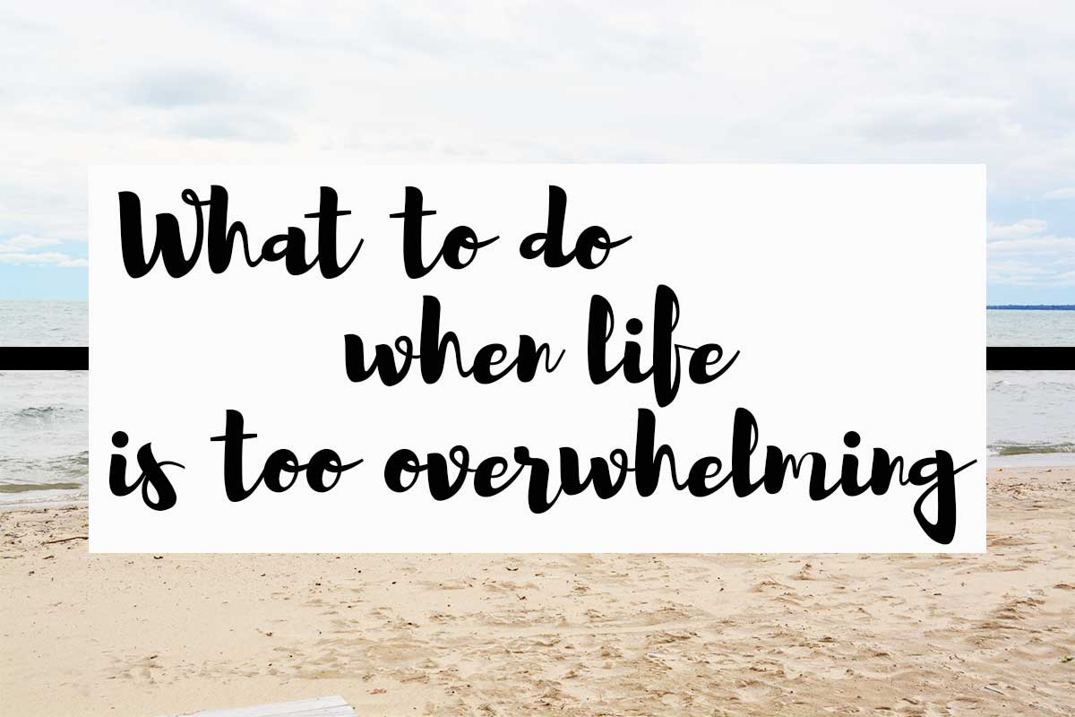 What to do when life is too overwhelming