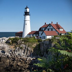 One of the most spectacular sights on the coast: Portland Head Light near Cape Elizabeth, Maine. #travel #Maine #sea #ocean