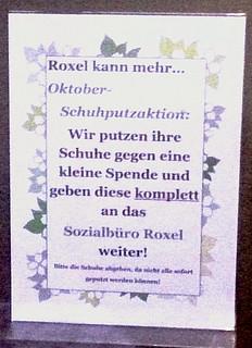 Das Schuhhaus Lamskemper in Roxel putzt Schuhe für den guten Zweck