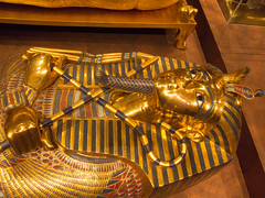 Golden mummy mask