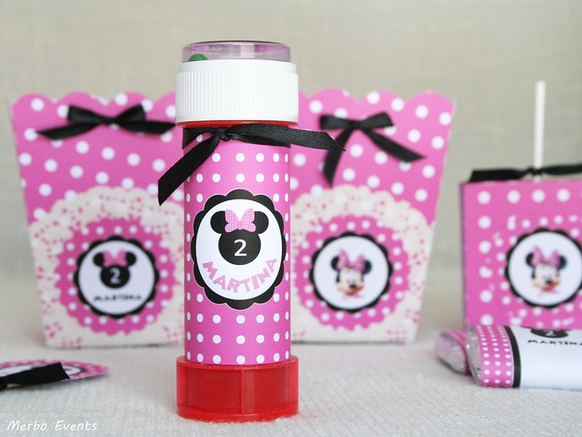 pomperos personalizados minnie