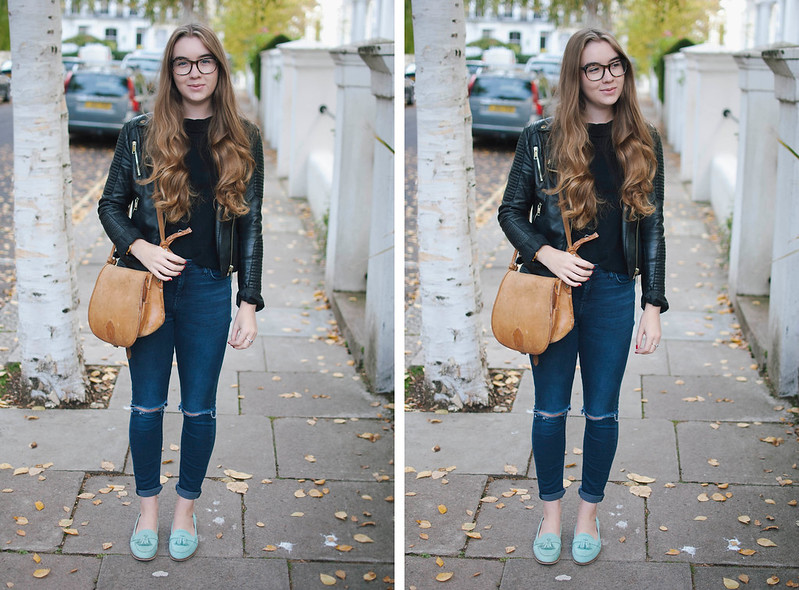 mint loafer ootd 2