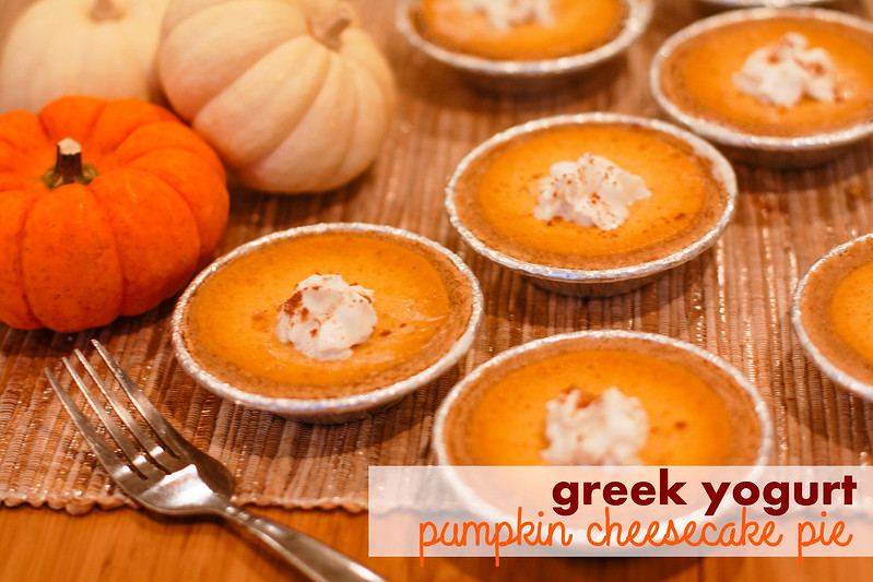 cute & little blog | pumpkin cheesecake pie using greek yogurt | fall family recipe #EffortlessPies