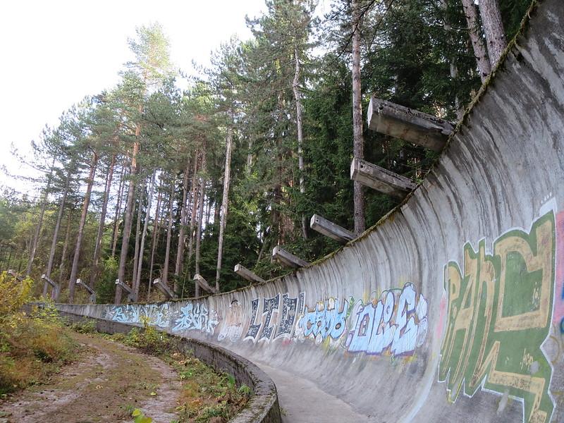 pista de luge abandonada