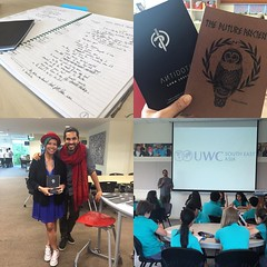 Had an inspiring morning with the 8s, @lukalesson and #poetry. Kids were on fire leaving his amazing session. Teachers too! #uwcsea_east #love #fangirl thanks @jmacswain82 and @hambino for putting him in our radar. You would have loved it, @intrepidteache