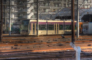Hankai Tramway Co. at Abikomichi, Osaka on OCT 31, 2015 (4)