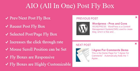 CodeCanyon AIO Post Fly Box v1.7 - Prev Next Recent Selected Post