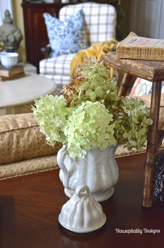 Vintage Ironstone and Limelight hydrangeas - Housepitality Designs
