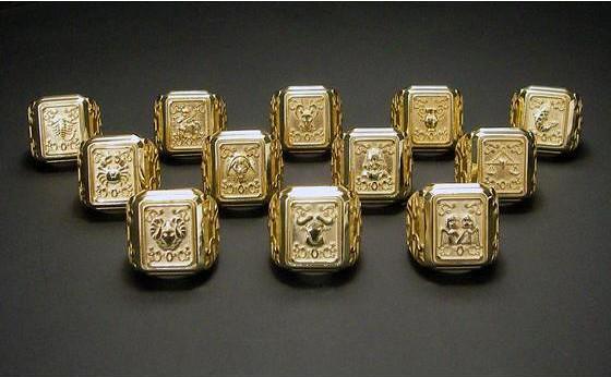 燃燒吧小宇宙!《聖鬪士星矢》黃金聖衣箱 925純銀戒指