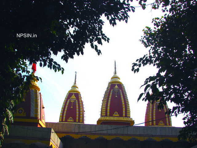 Full view of main three shikhar with Hanumant Dham