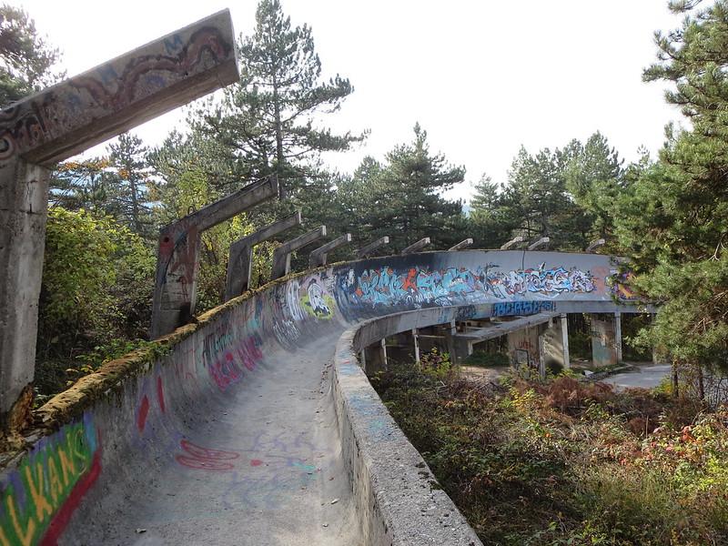 pista de bobsleigh abandonada sarajevo