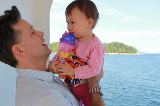 On a ferry to Salt Spring Island