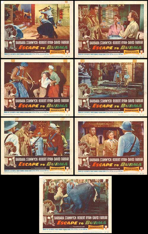 Escape to Burma - lobbycards