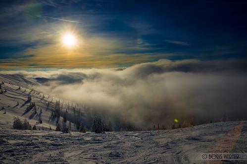 schnee landscape österreich nebel urlaub kärnten ereignisse landschaft gegenlicht kleinkirchheim sal2470z schieurlaub