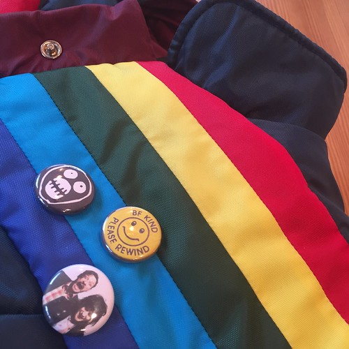 Super-Friendly Rainbow Puffer Vest