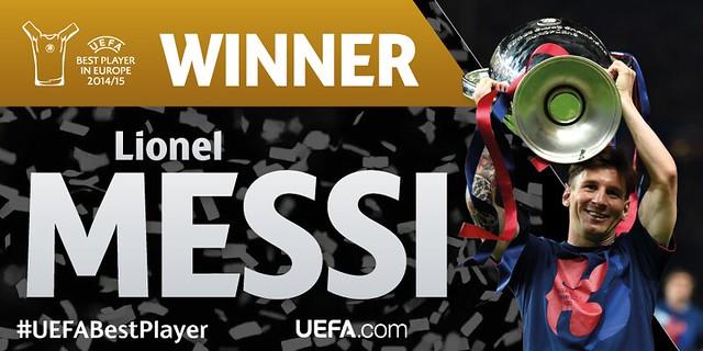 Mejor Jugador de Europa: Lionel Messi