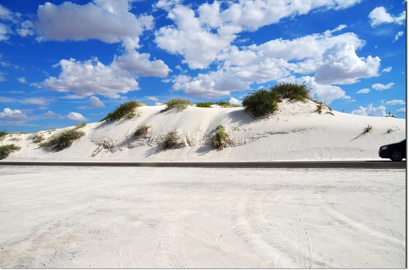 Sand dune at White Sands National Monument
