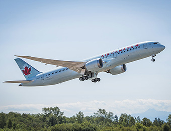 Air Canada-Welcomes First Boeing 787-9 Dreamliner to its fleet