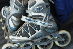 personal protective equipment, footwear, clothing, roller skates, blue,