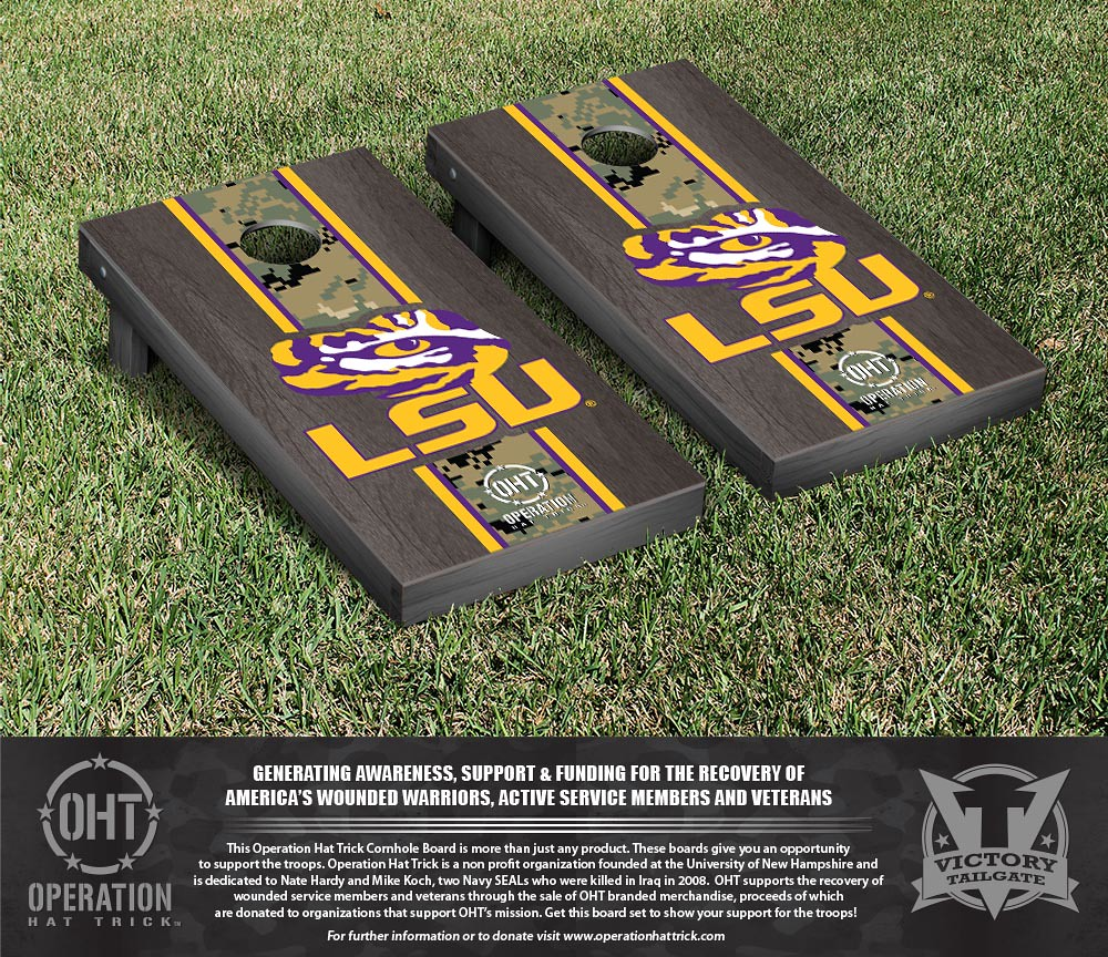 LSU Tigers Operation Hat Trick Onyx Stained Stripe Version