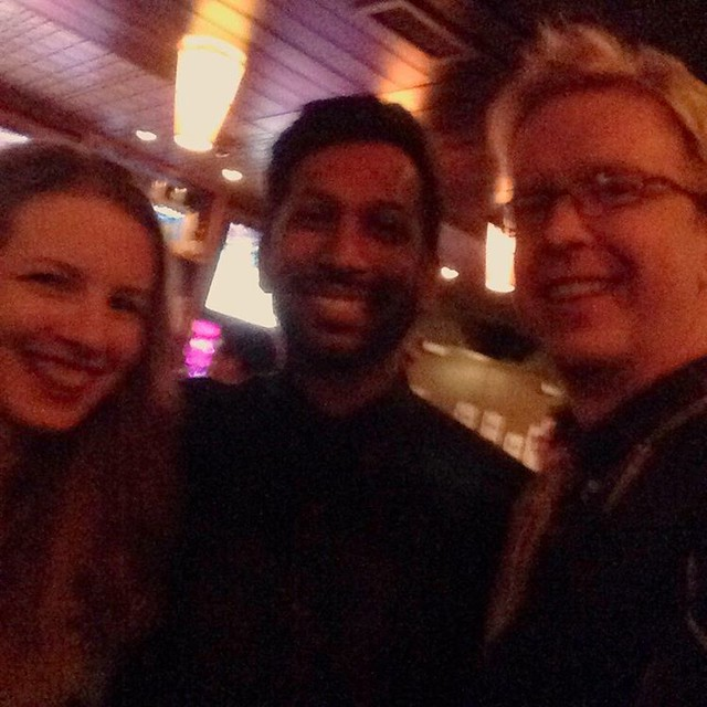 #tbt to meeting @hrishihirway, my absolute all time favorite podcast, @songexploder. This was the live recording of American Football, which was released today!