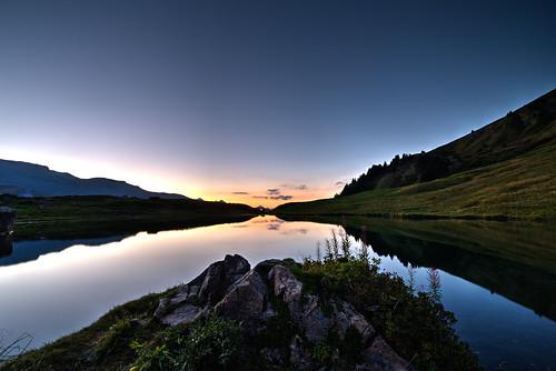 sunset lake france canon de soleil coucher lac des fairy savoie beaufort fées 6d 14mm areche samyang