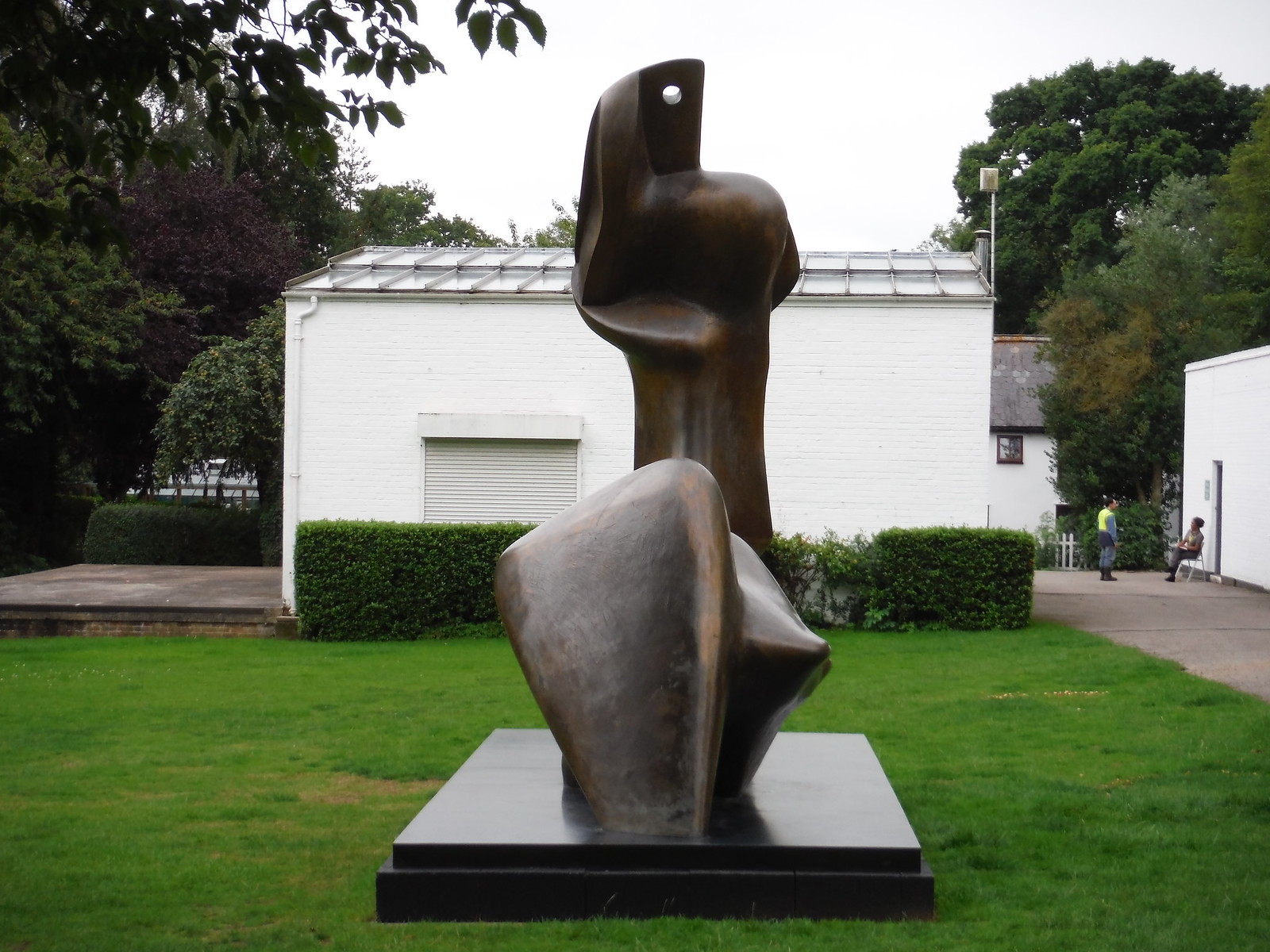 Two Piece Reclining Figure: Cut (1979-81) [II] SWC Walk 164 Roydon to Sawbridgeworth via Henry Moore Foundation