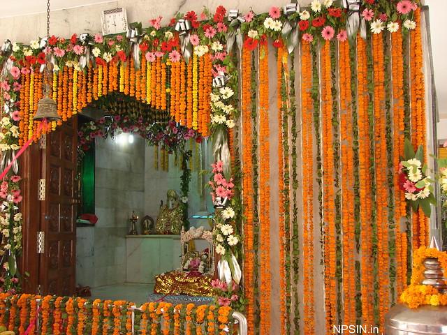 Main Temple Decoration on Janmashtami Celebration
