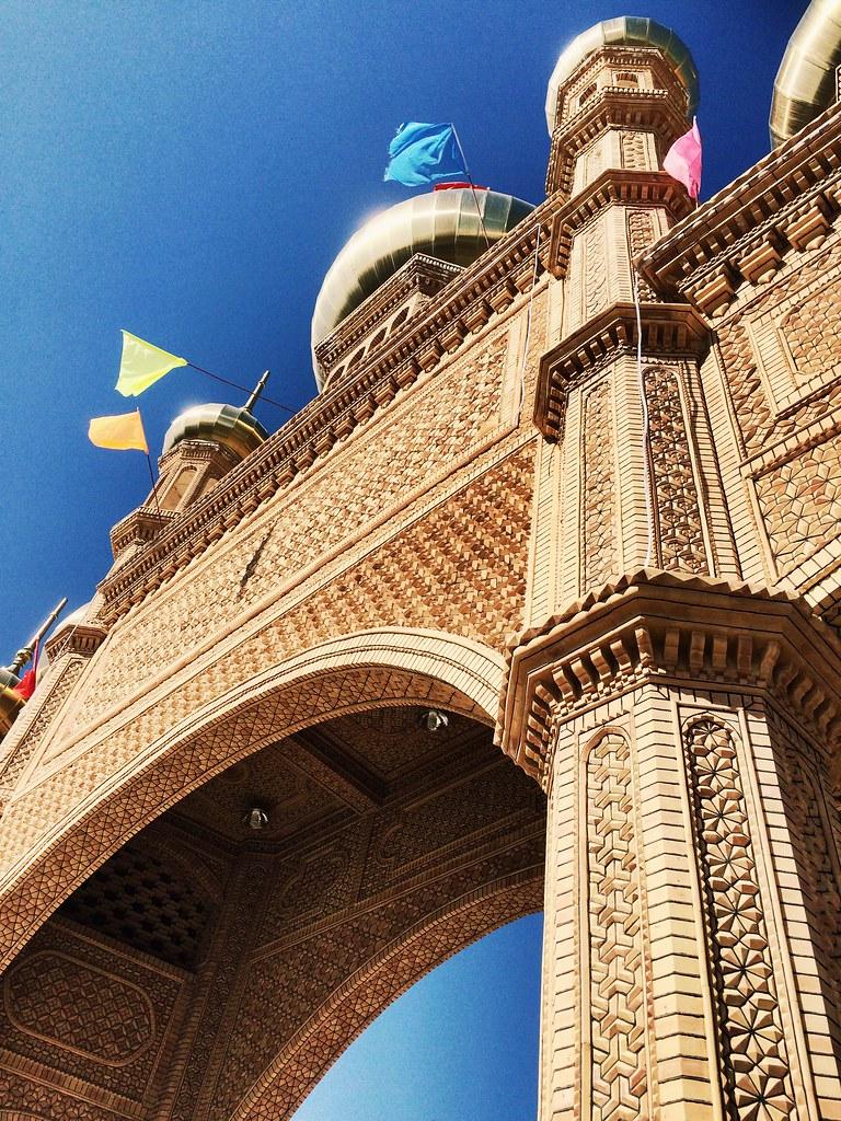 Entrance of the bazar in Hotan