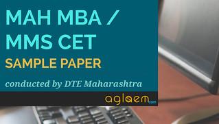 MAH MBA/MMS CET Sample Paper