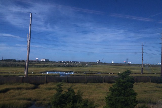 日, 2015-09-06 22:03 - Atlantic City - Philadelphia 間の車窓