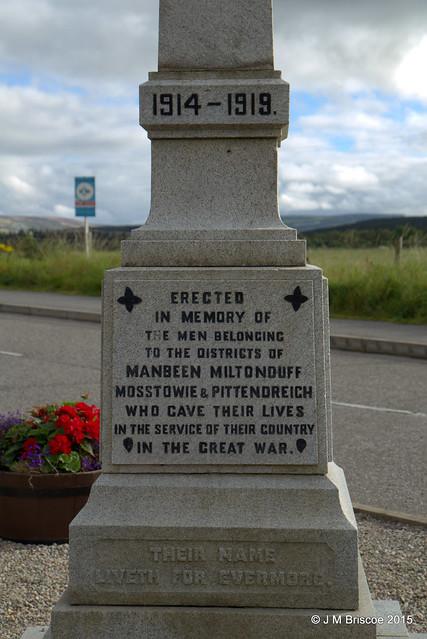 Manbeen, Miltonduff, Mosstowie and Pittendreich District War Memorial