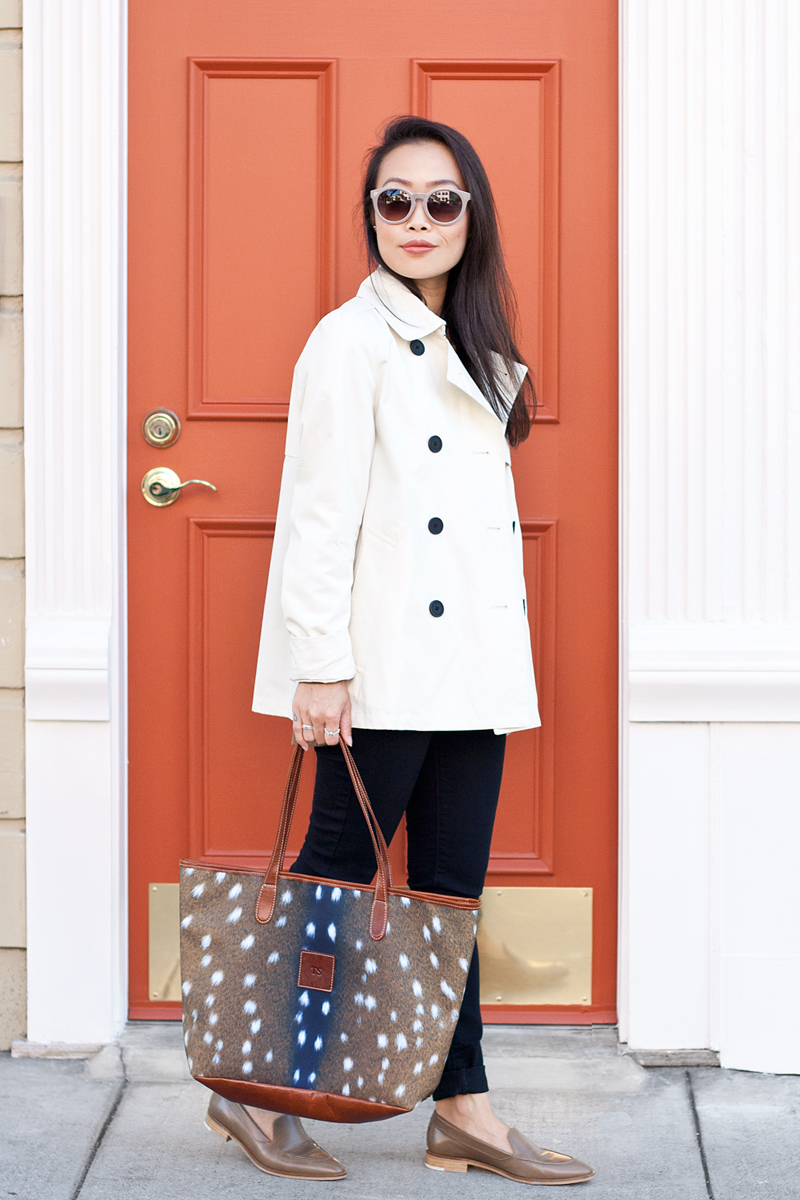07-everlane-trench-loafer-bambi-deer-tote-fall-style-sf-fashion