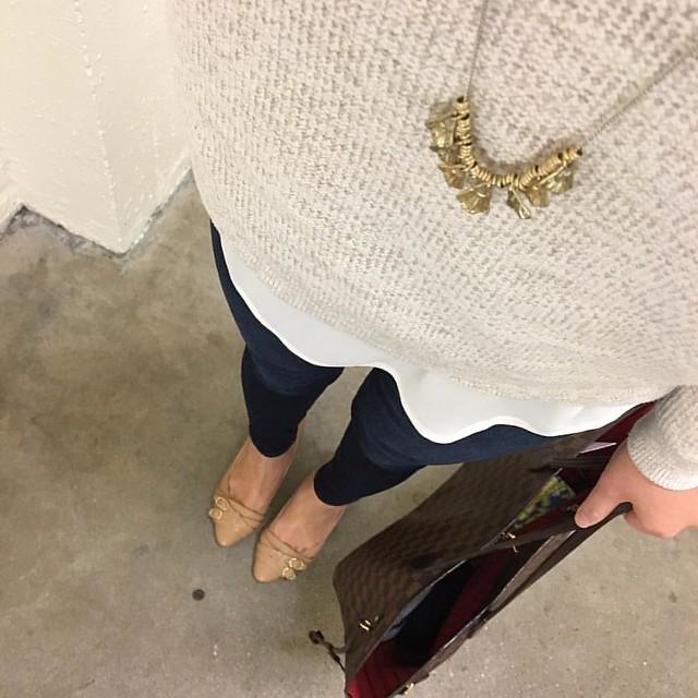 LOFT Marled Hi-Lo Sweater