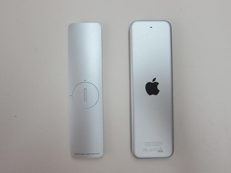Apple Remote vs Apple Siri Remote - Back