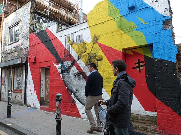 street art vache
