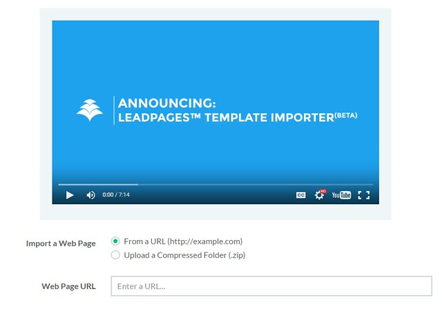 Leadpages BETA Template Importer