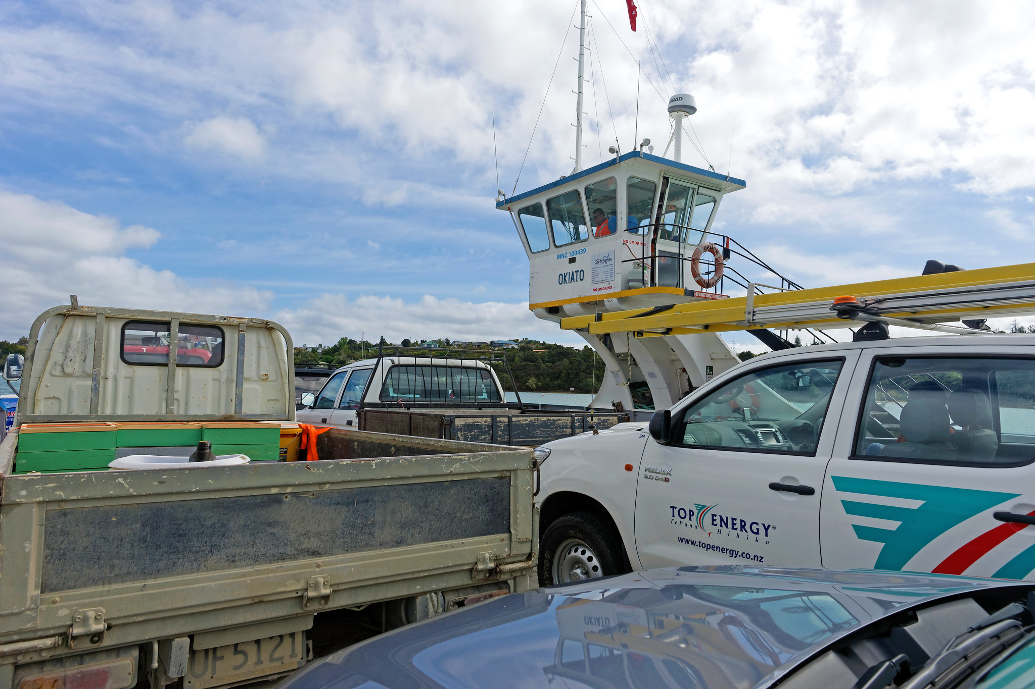 Ferry from Opua to Okiato, New Zealand