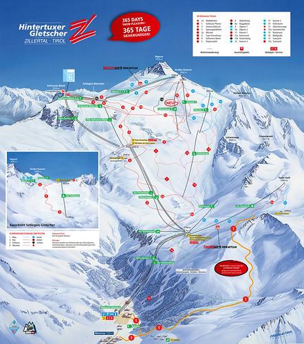 Hintertuxer Gletscher - mapa sjezdovek