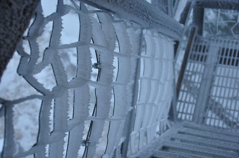 Icy staircase