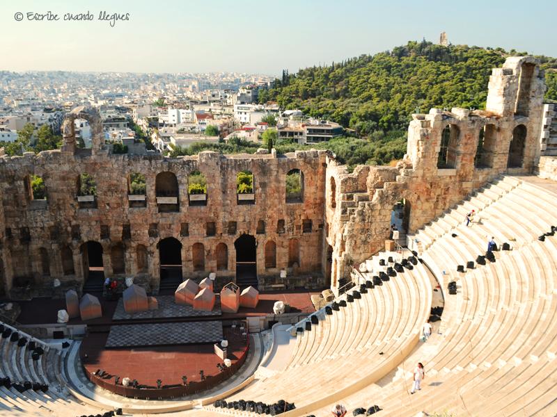 Odeon de Herodes Ático en activo