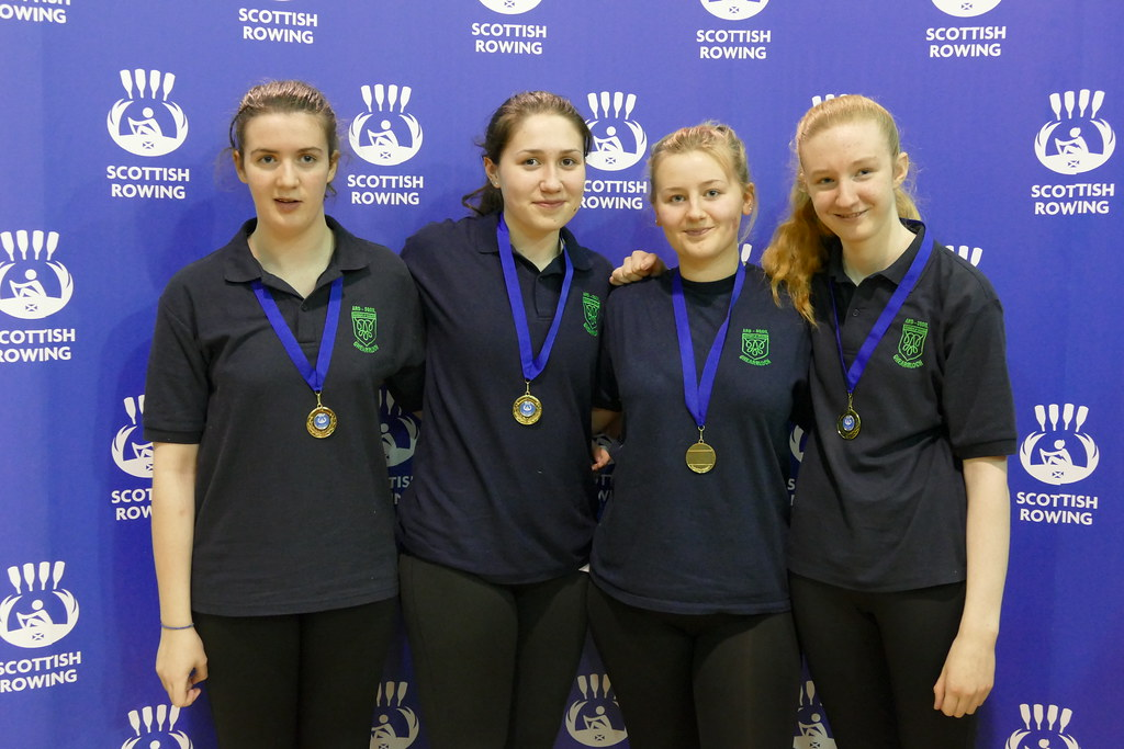 S3 Girls Scottish Indoor Rowing Champions