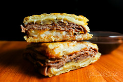 Prime Rib French Onion Melt - Sliced Prime Rib, Gr…
