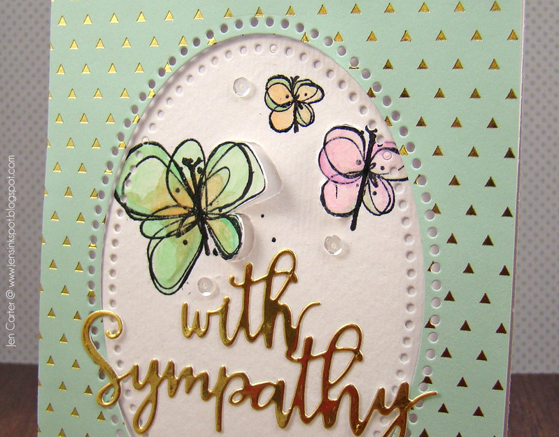 Jen Carter Gold Butterfly Sympathy Closeup 2