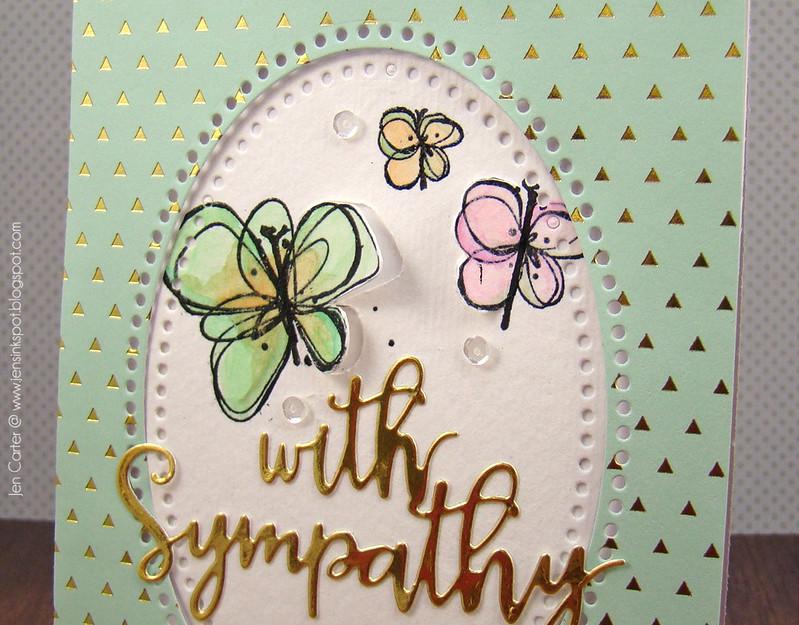 Jen Carter Gold Butterfly Sympathy Closeup 2