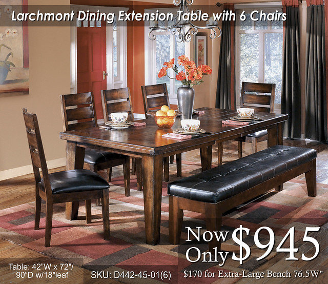 Larchmont Table and 6 Chairs