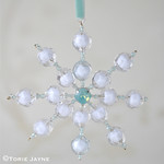 DIY beaded snowflake