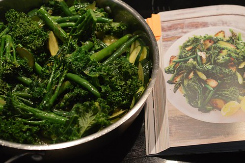 Sautéed greens with lemon and garlic