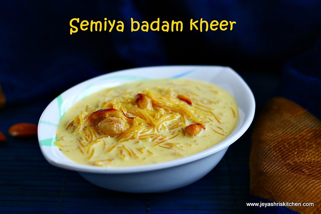 Shahi badam kheer